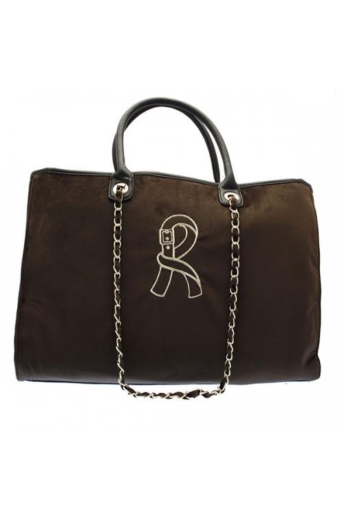 Borsa Roberta di Camerino Viola Donna shopping Velluto Testa di moro - RC0355-604