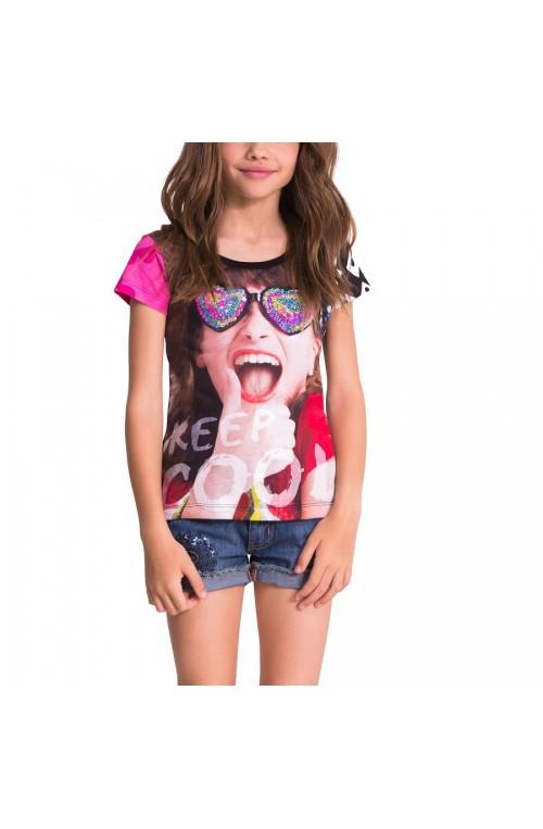 Desigual girl's ARTOZQUI T-shirt- 50T30E8-2000-4