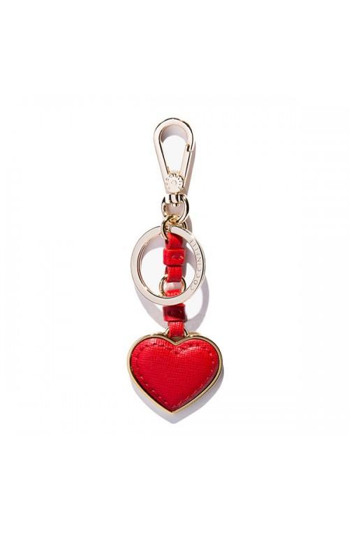 Portachiavi COCCINELLE Heart rosso Pelle Donna - E8AZ441H505209