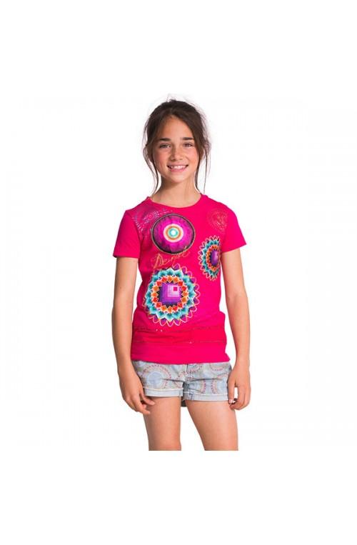 T-shirt da bambina Desigual modello AEL- 50T30B4-3022-4