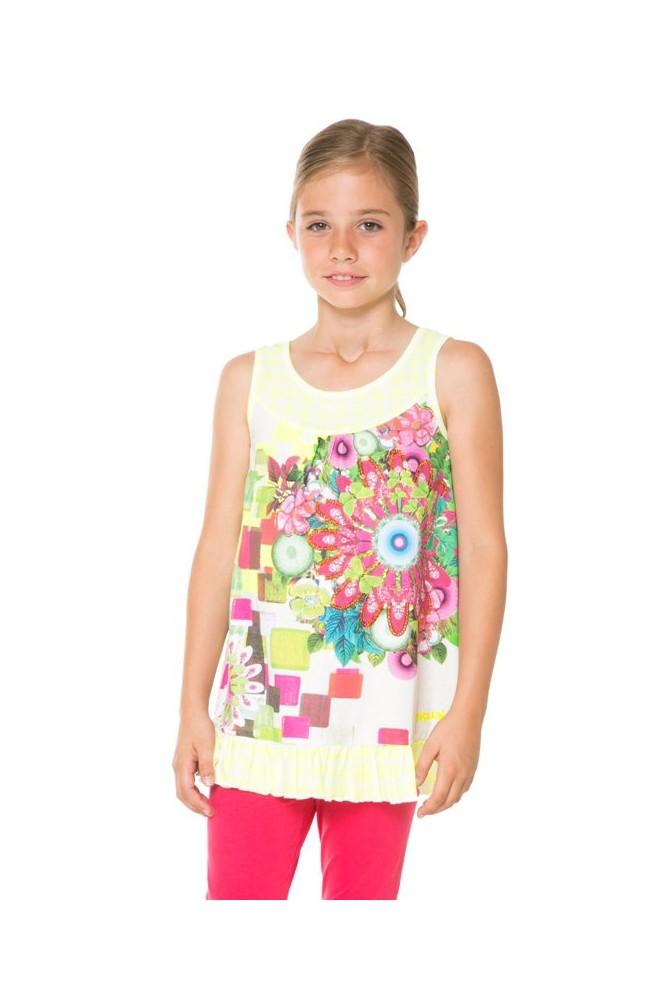 T-shirt da bambina Desigual modello HALIFAX - 61T30G1-8023-3-4