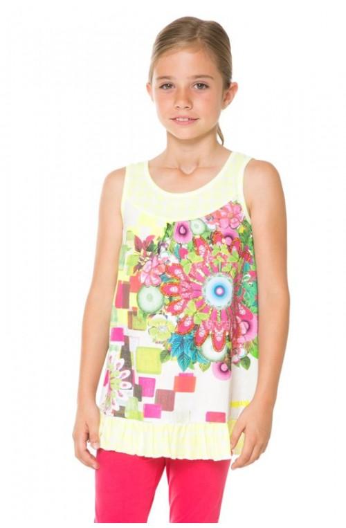 Desigual girl's HALIFAX T-shirt 61T30G1-8023-5-6