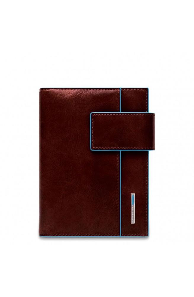 Agenda grande in pelle con patta e porta penne Blue Square AG1075B2-MO