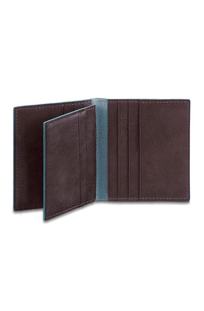 PIQUADRO porta tarjetas de crédito Blue Square Marron - PP1518B2-MO