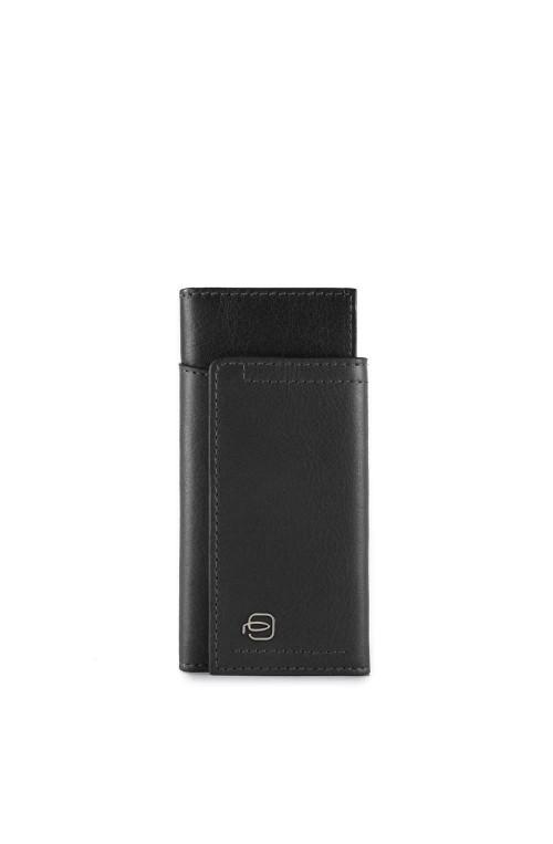 PIQUADRO Keyrings Cary Black Leather - PC4154W82-N