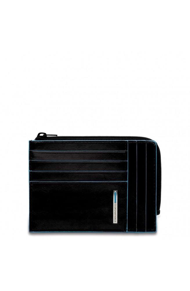 PIQUADRO Wallet B2 Leather Black - PU1243B2R-N