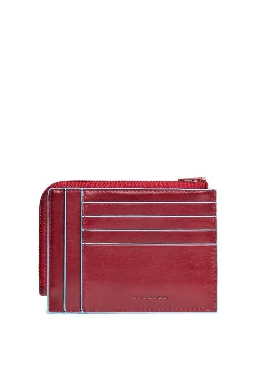 Portafoglio PIQUADRO B2 Pelle Rosso - PU1243B2R-R