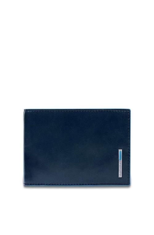 Portafoglio PIQUADRO B2 Uomo Pelle Blu - PU1392B2R-BLU2