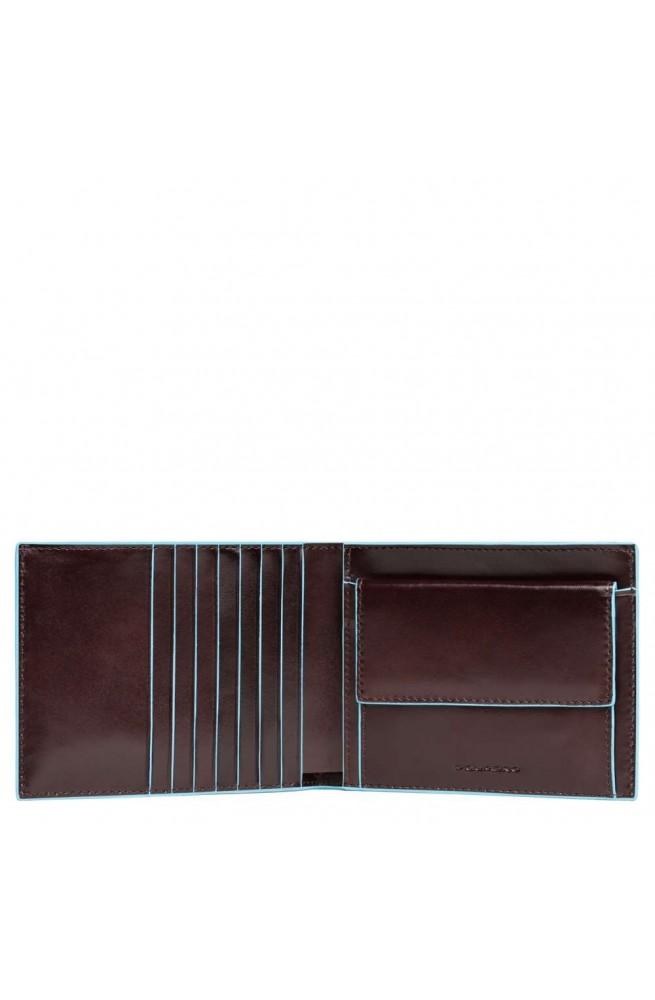 PIQUADRO Wallet B2 Male Leather Brown - PU1239B2R-MO