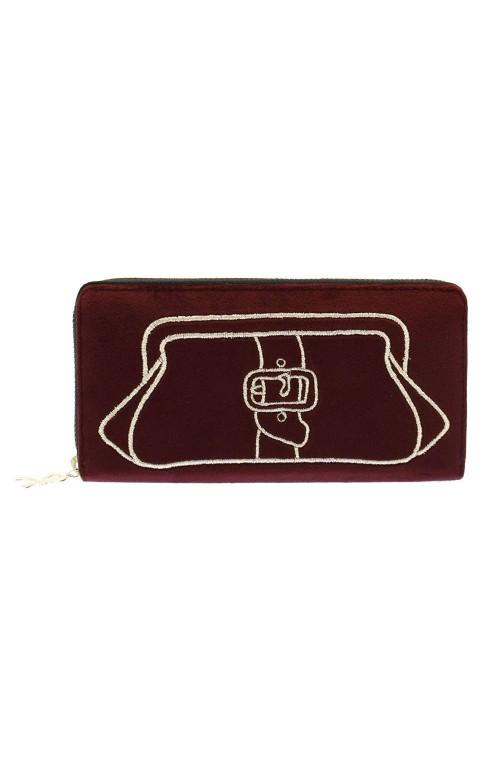 Portafoglio Roberta di Camerino Grace Donna Bordeaux - RCW0111-608-BORDEAUX