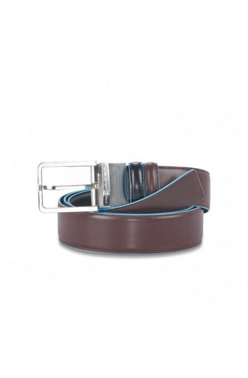 Cintura PIQUADRO Blue Square Uomo Reversibile Nero Marrone - CU2619B2-NMO