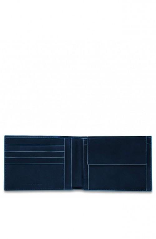 PIQUADRO Cartera B2 Hombre Cuero azul PU257B2R-BLU2