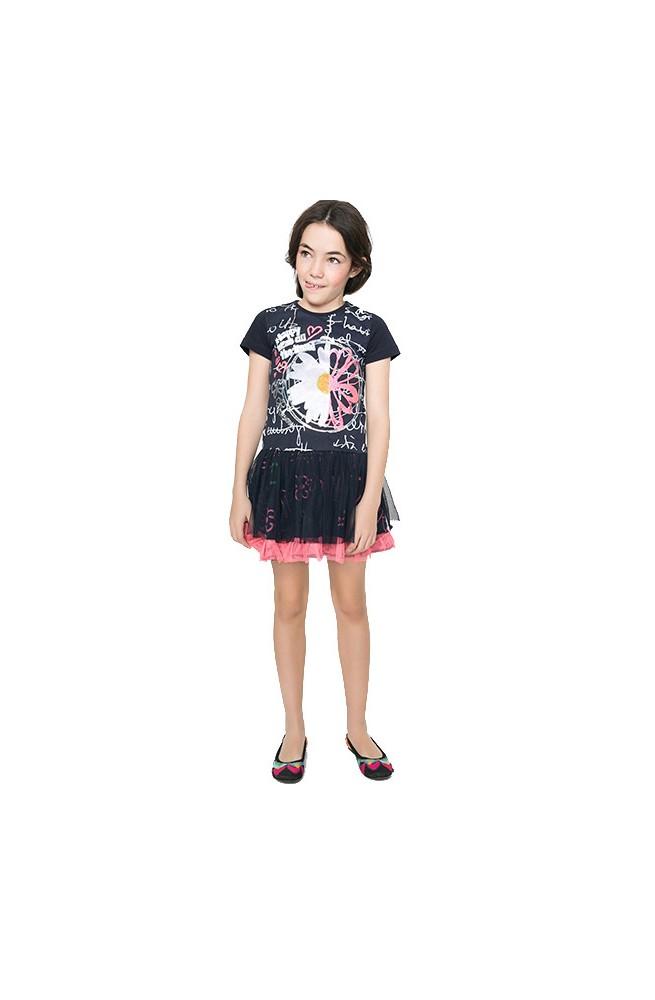 Vestito da bambina Desigual modello LANSING- 61V32G4-8023-3-4
