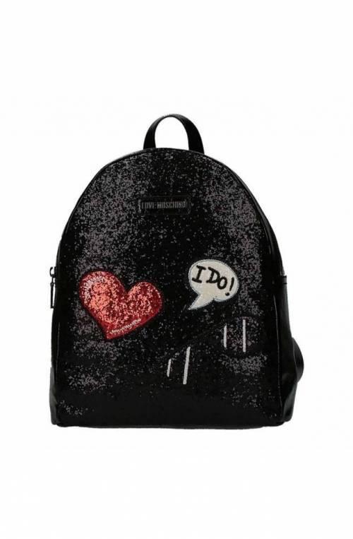 Zaino LOVE MOSCHINO GLITTERS Donna Nero - JC4149PP15LL0000