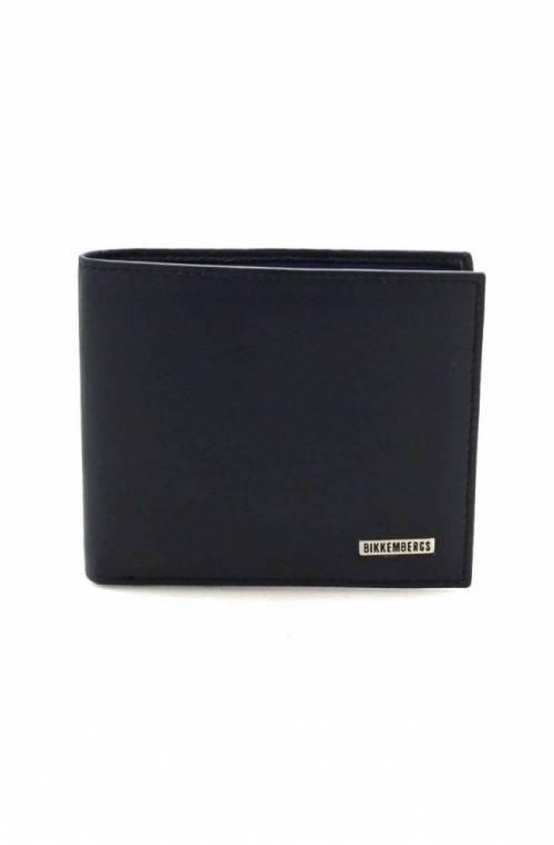 BIKKEMBERGS Wallet Male Leather Blue - 7BDD9106B71