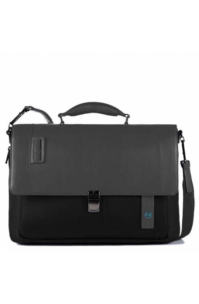 PIQUADRO Bag Pulse P16 Male Black - CA3111P16-N - PoppinsBags e0cf9f1bd16