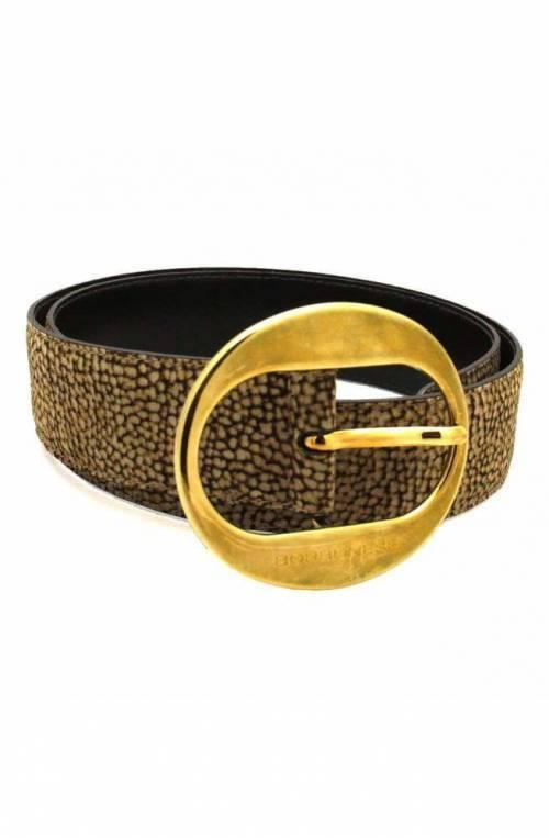 BORBONESE Belt Female Beige-Brown - 911149609388-40