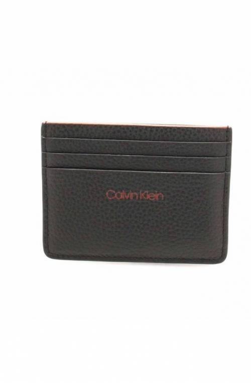 Porta carte di credito CALVIN KLEIN PEBBLE EDGE Uomo Nero - K50K503819001