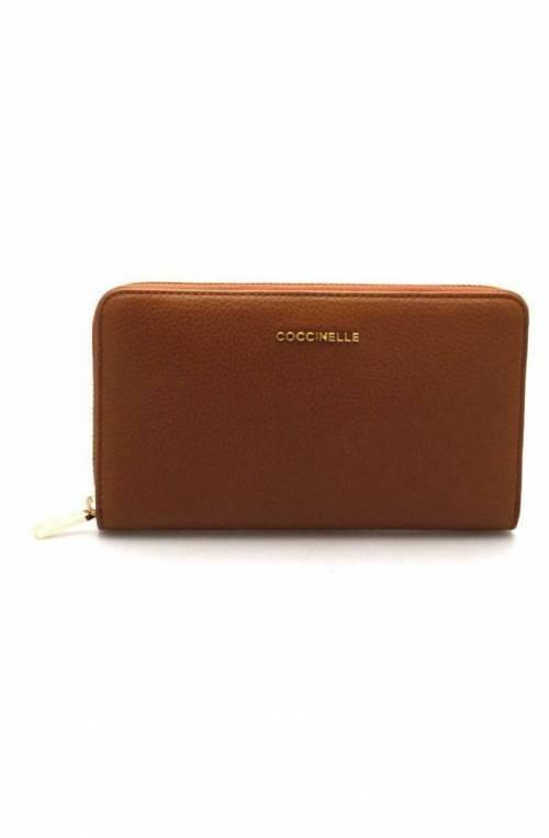 Portafoglio COCCINELLE METALLIC SOFT Donna Brule' - E2CW5113201W74