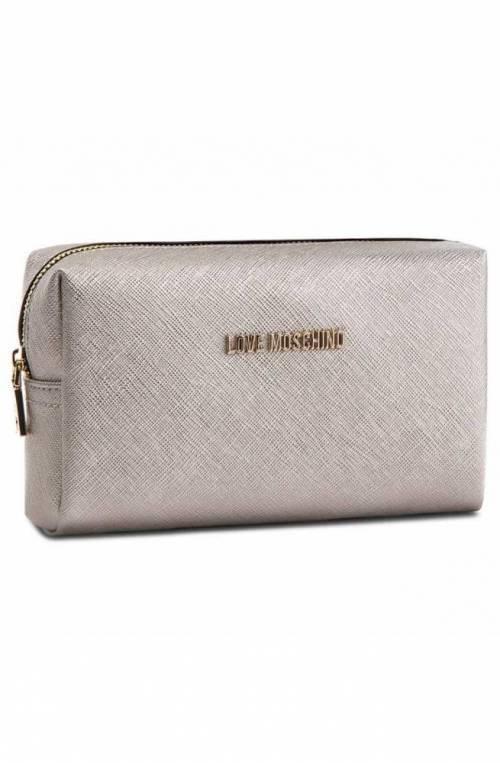LOVE MOSCHINO Beauty case Female Silver - JC5391PP06LQ0902