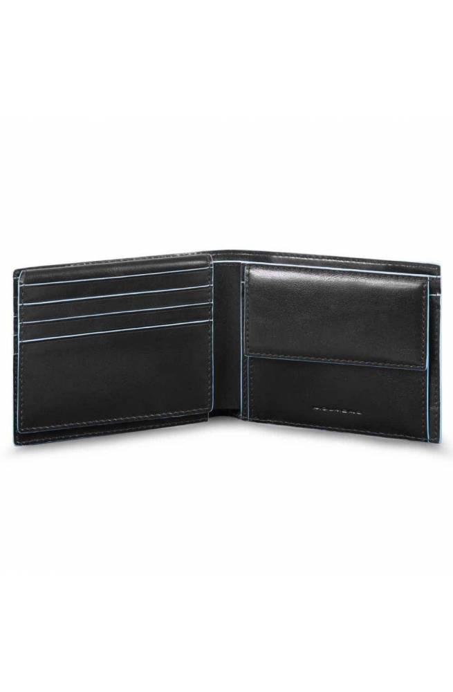 Portafoglio PIQUADRO Blue Square Uomo Pelle Nero - PU4518B2R-N