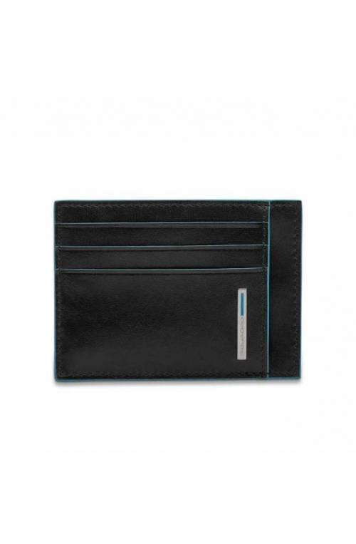 PIQUADRO porta tarjetas de crédito Blue Square Negro- PP2762B2R-N