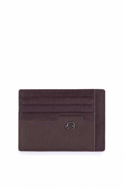 Porta carte di credito PIQUADRO Line Pelle Testa di moro - PP2762W89R-TM