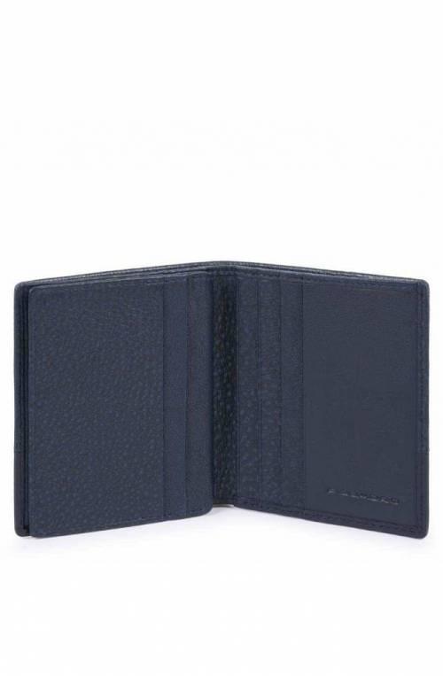 PIQUADRO Credit card case Line Male Leather Blue - PP1518W89R-BLU