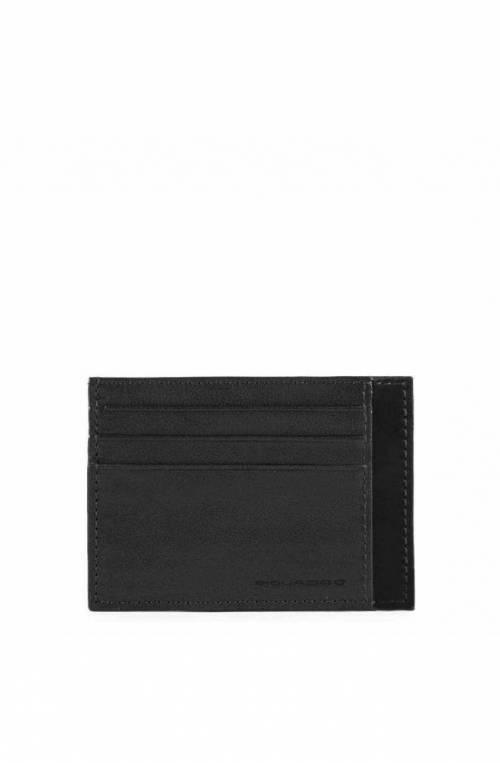 Porta carte di credito PIQUADRO W93R Pelle Nero - PP2762W93R-N