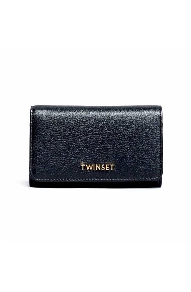 TWIN-SET Wallet A/I 2018 Female Black - OA8THB-00006