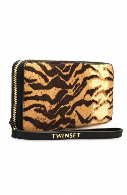 TWIN-SET Wallet Female Black - tiger - OA8TDS-03114