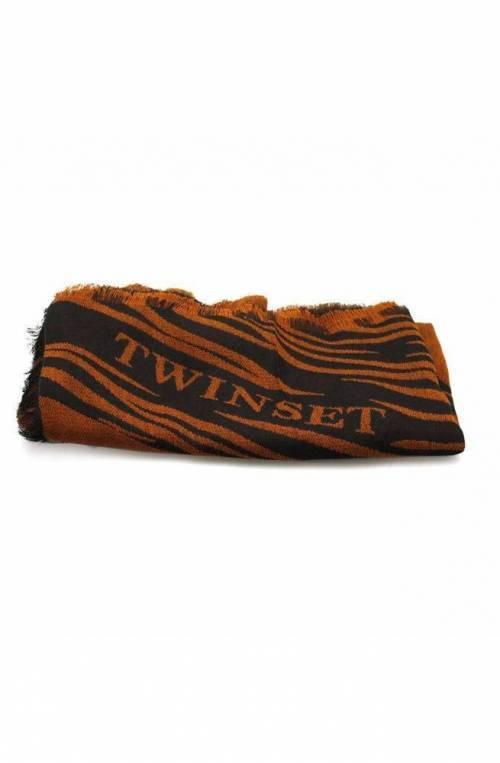 TWIN-SET Scarve Female Black Brown - OA8T1R-03196
