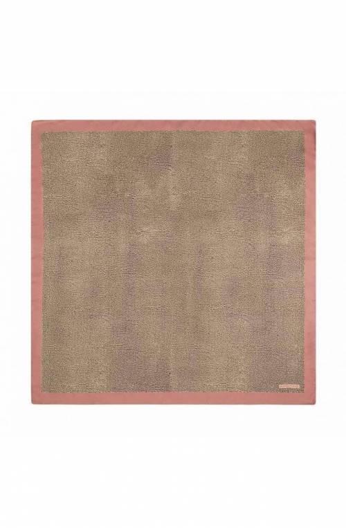 Foulard BORBONESE Donna Seta Marrone rosa - 6DL002-N12-R19