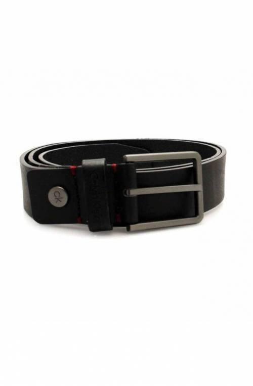 Cintura CALVIN KLEIN Uomo Pelle 105 Nero - K50K504237001-105