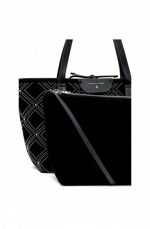 PATRIZIA PEPE Bag New Velvet Female Black-Gold - 2V7821-A4M1-K340