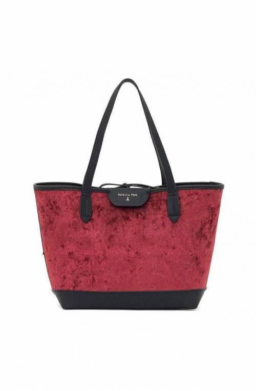 PATRIZIA PEPE Bag Ruby Animalier Female Tote Black-Ruby Reversible - 2V7193-A4O4-R620