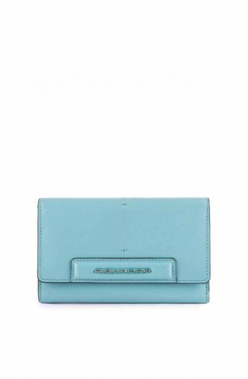PIQUADRO Wallet Splash Female Leather light blue - PD4152SPLR-AZSA