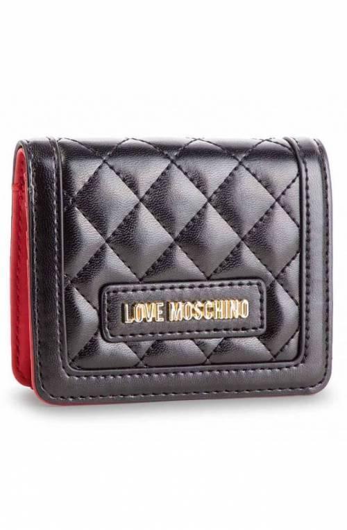 Portafoglio LOVE MOSCHINO QUILTED Donna Nero - JC5614PP17LA0000