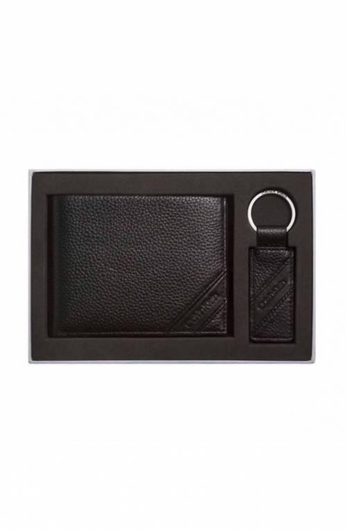 Box regalo CALVIN KLEIN Uomo Portafoglio + portachaivi Nero Pelle - K50K504250001