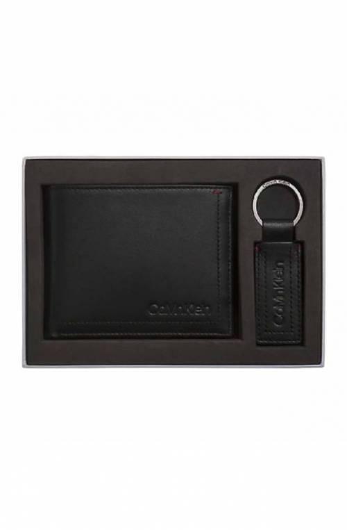 Box regalo CALVIN KLEIN Uomo Portafoglio + portachaivi Nero Pelle - K50K504261001