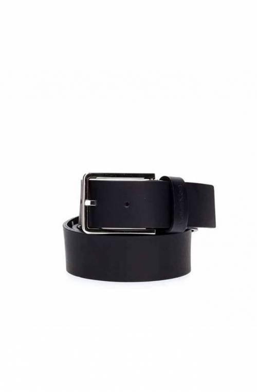 CALVIN KLEIN Belt ESSENTIAL Male Leather 105 Navy blue - K50K504479067-105