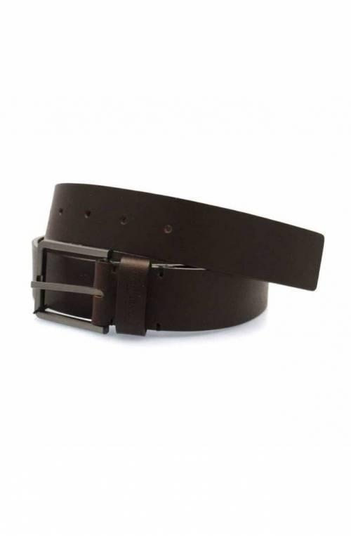 CALVIN KLEIN Belt ESSENTIAL Male Leather 105 Dark brown - K50K504479066-105
