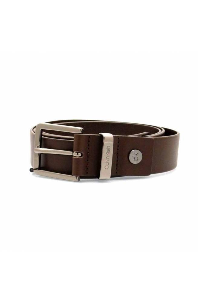 CALVIN KLEIN Cinturón METAL LOOP Hombre Cuero 115 marrón - K50K504481066-115