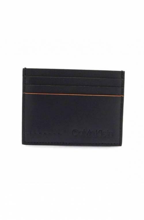 Porta carte di credito CALVIN KLEIN FLEX Uomo Pelle Blu navy - K50K504438067