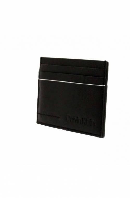 Porta carte di credito CALVIN KLEIN FLEX Uomo Pelle Nero - K50K504438001