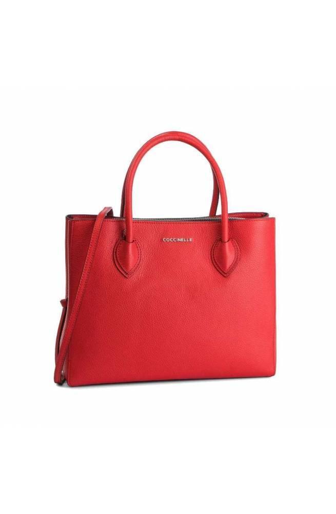 a2ec42c12905b COCCINELLE Tasche FARISA Damen Leder rot - E1DG5180101R09 - PoppinsBags