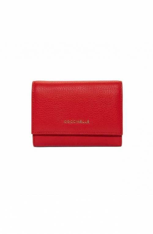 COCCINELLE Cartera METALLIC SOFT Mujer Cuero Rojo- E2DW5111001R09