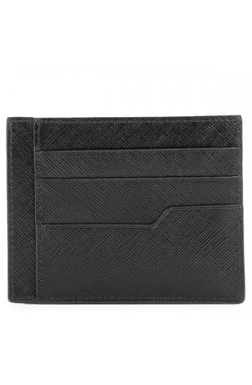 LANCASTER PARIS Credit card case MATHIAS Unisex Leather Black - 110-06-NOIR