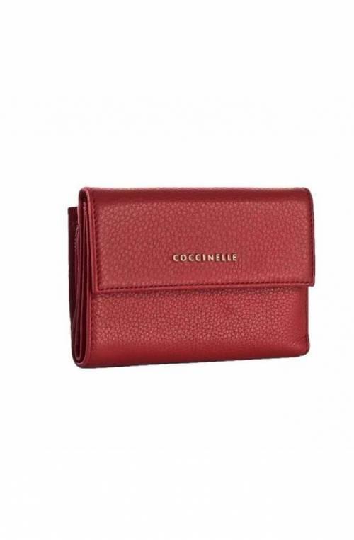 Portafoglio COCCINELLE METALLIC SOFT Donna Pelle Rosso - E2DW5116601R09