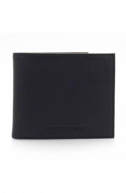 Emporio Armani Wallet BI-FOLD Male Leather Blue navy - Y4R167-YEW1E-80033